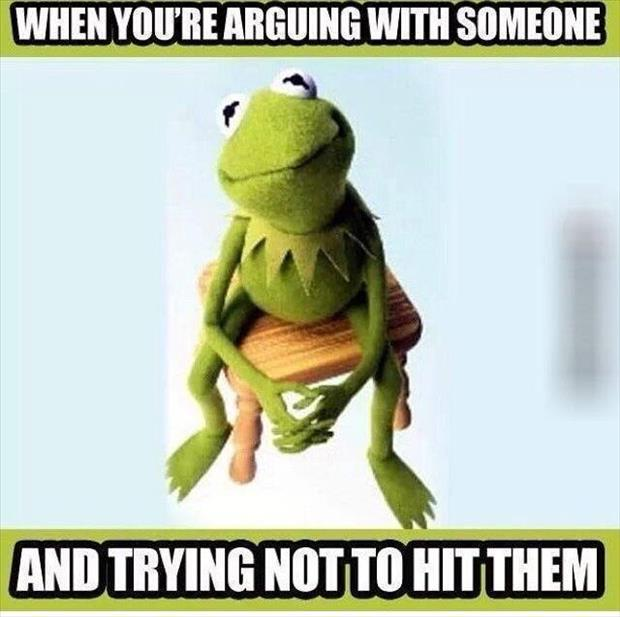 when you're arguing with someone