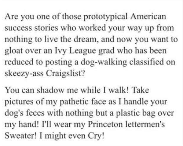 Quite Possibly The Best Craigslist Ad You'll See All Week