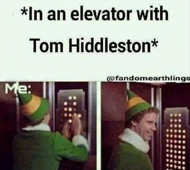 I'm in an elevator with tom hiddlestone