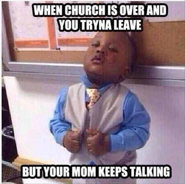 church is over