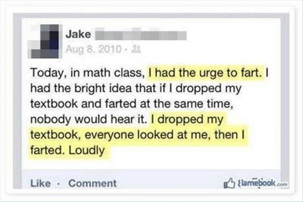 farting in class