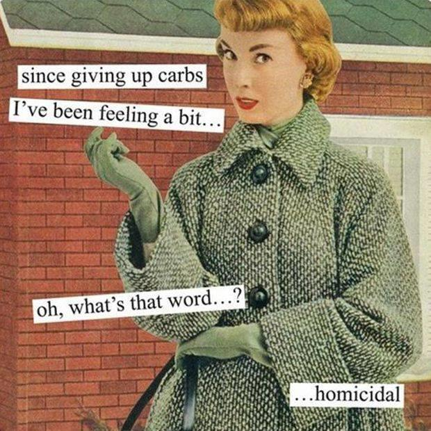 giving up carbs
