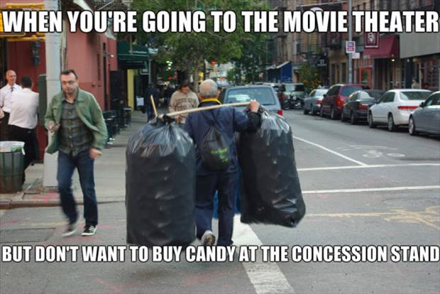 going to the movie theater