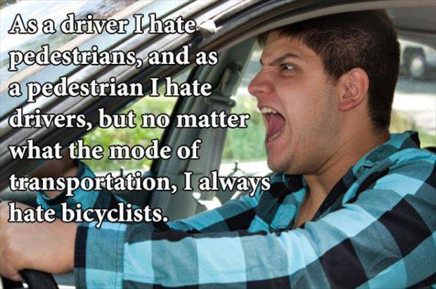 hate people on bikes