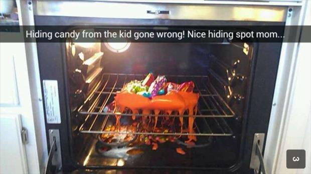 hiding candy from the kids