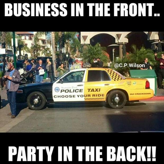it's all business up front party in the rear