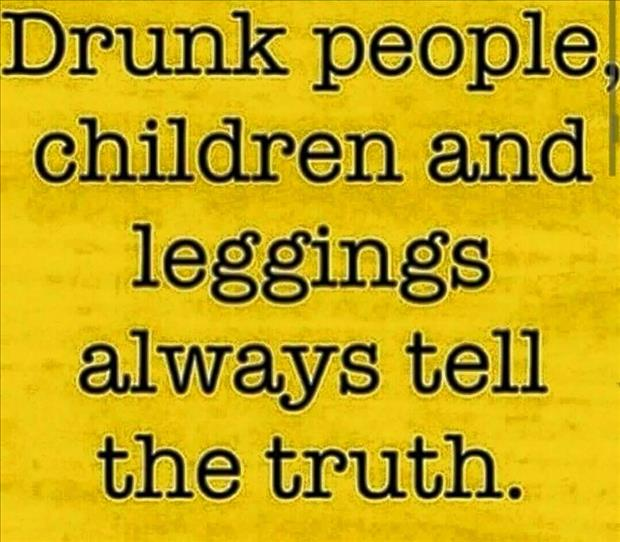 leggings always tell the truth