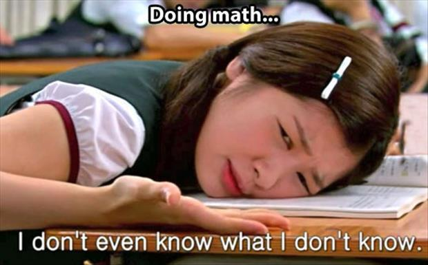 me trying to do math