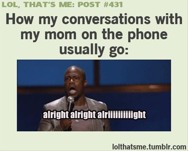 talking with my mom