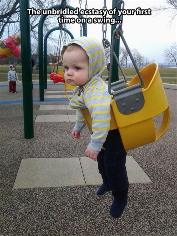 the first time on the swing