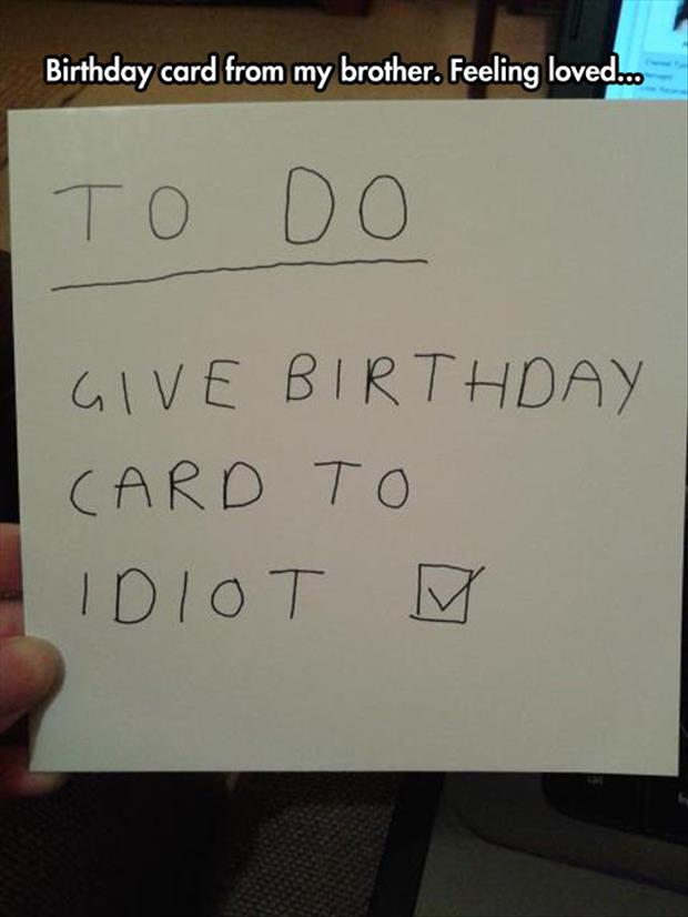 the funny birthday card