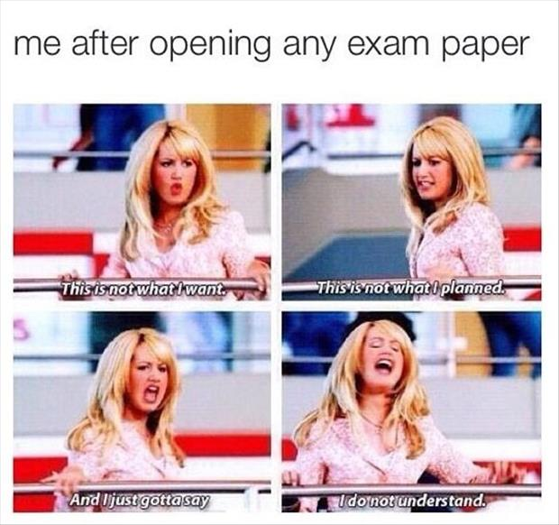 this is me opening an exam