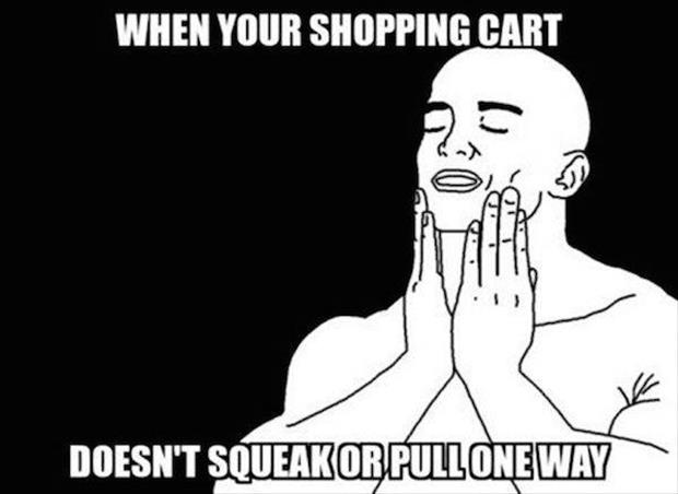 when you get a good shopping cart