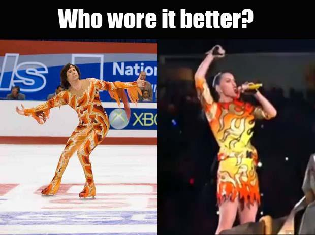 a Katy Perry outfits meme