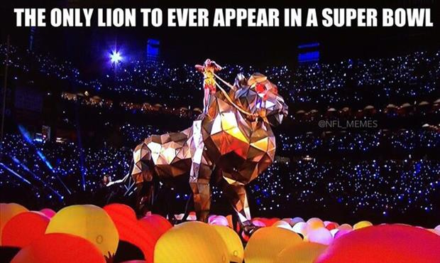 a lion in the superbowl