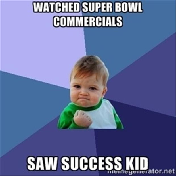 a success kid in superbowl commericals