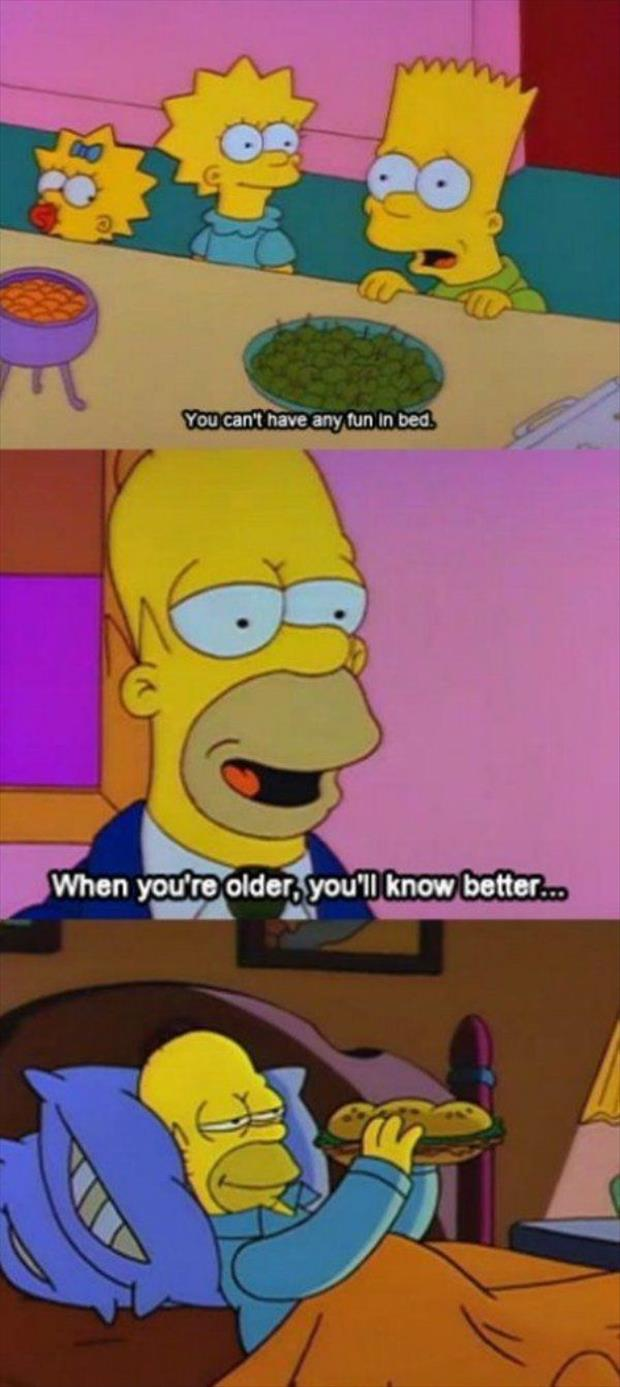 homer simpson in bed