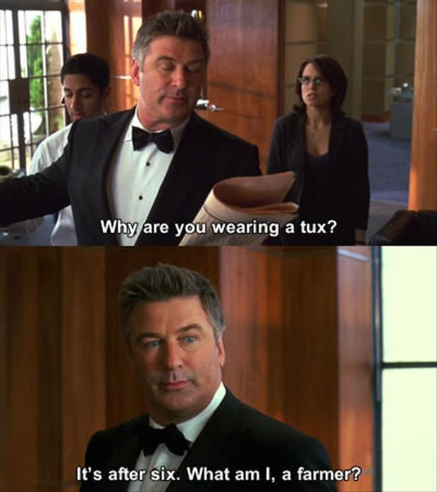 why are you wearing a tux