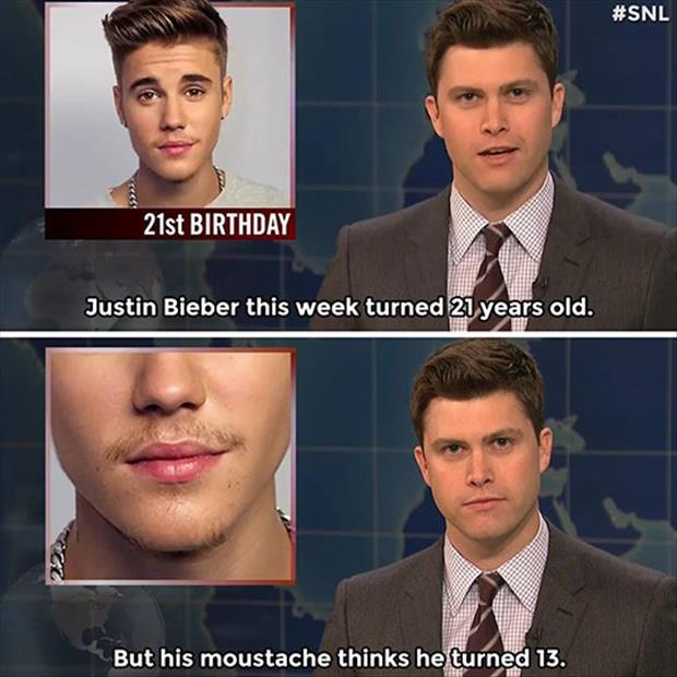 a Justin beiber turns 21 years old