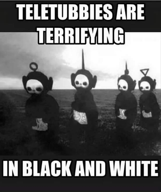 a teletubbies are weird