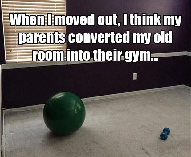 a turned my room into a gym