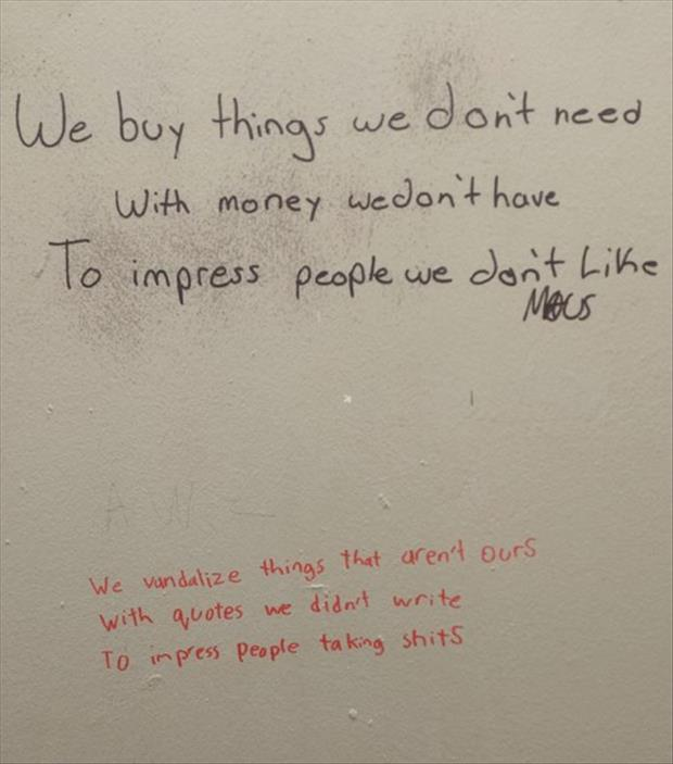 bathroom wall poems