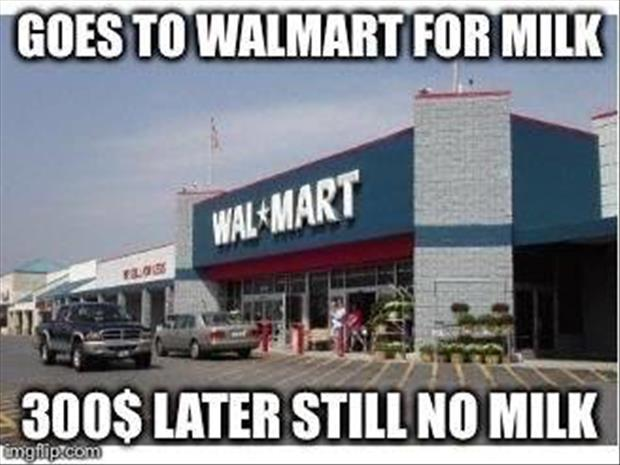 go to wal mart
