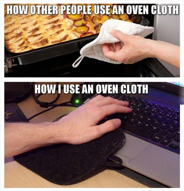 how to use an oven mit