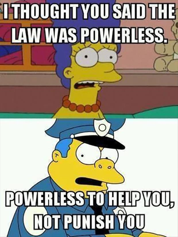 law is powerless