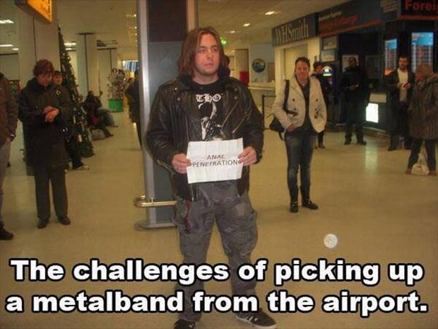 picking up a band at the airport