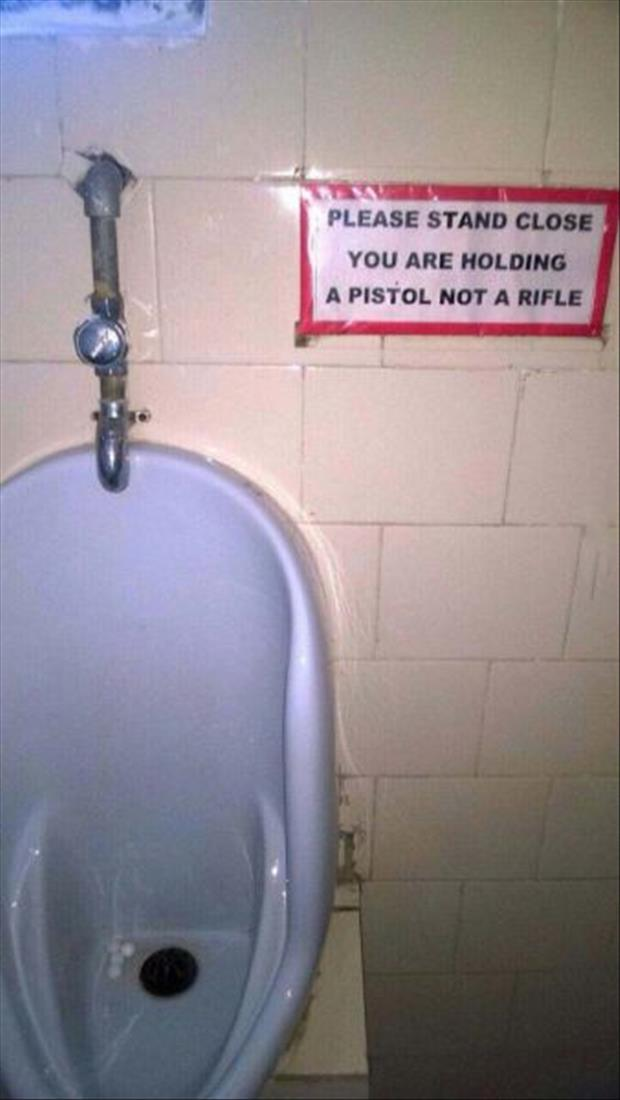 please stand close to the toilet