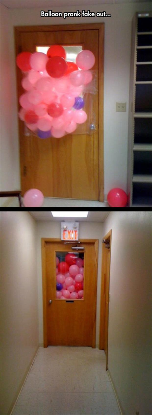 the fake balloon prank