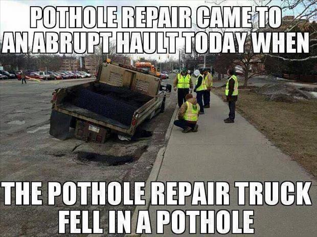 the pot hole repair truck
