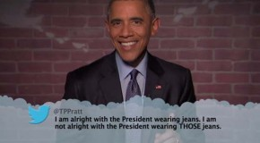 President Obama Reads Mean Tweets About Himself – 4 Pics