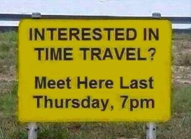 want to time travel