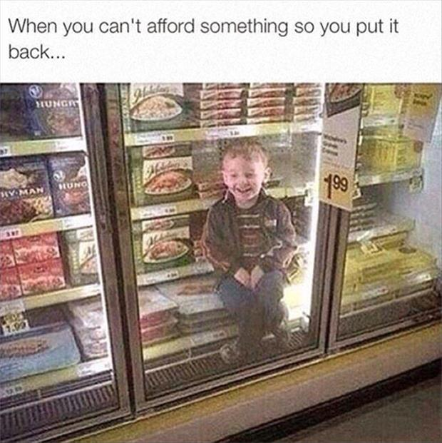 when you can't afford something
