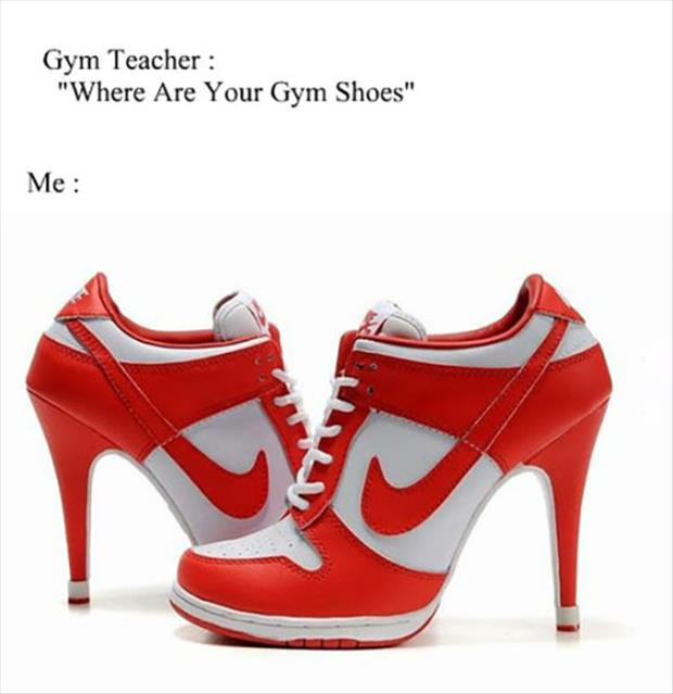 where are your gym shoes