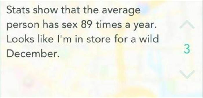how many times you have sex each year