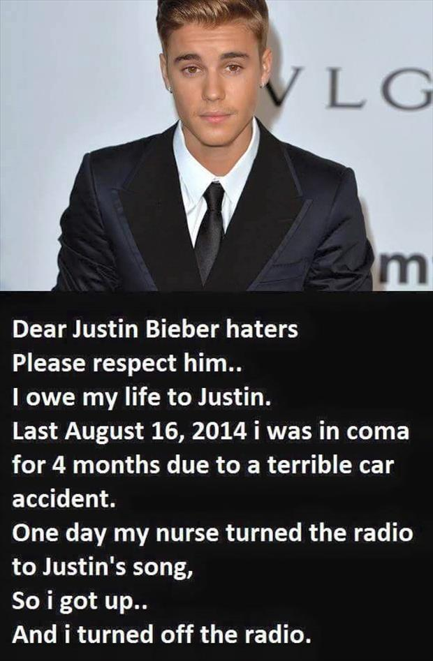 justin beiber haters