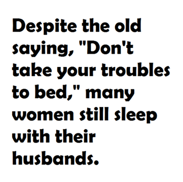 many women sleep with their husbands