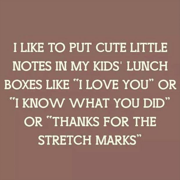 notes in kids lunches