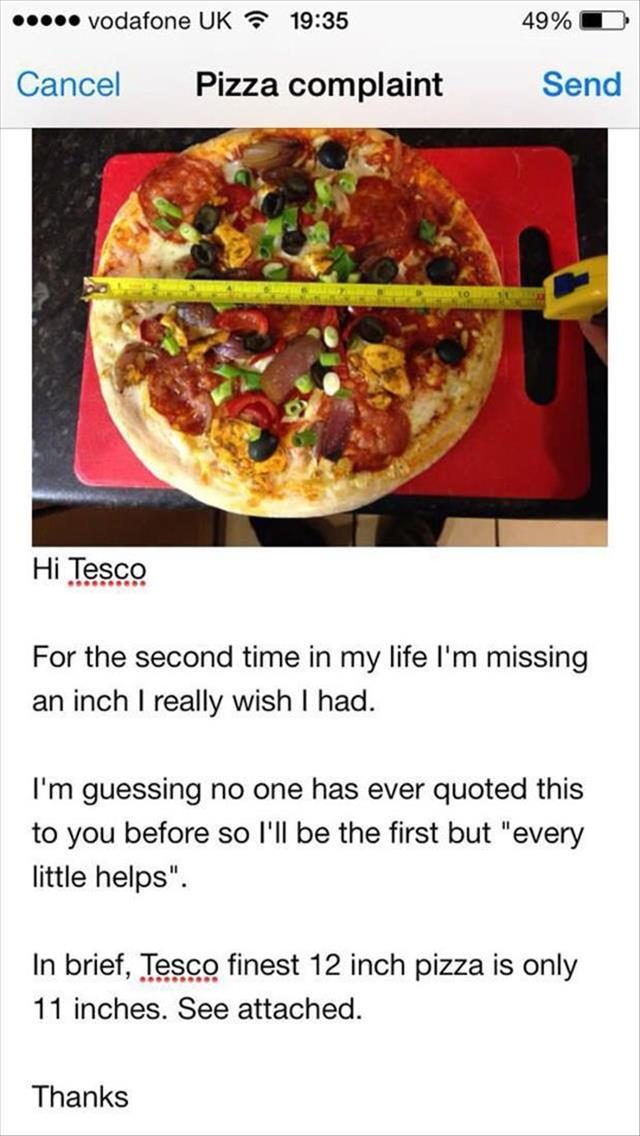 the 12 inch pizza
