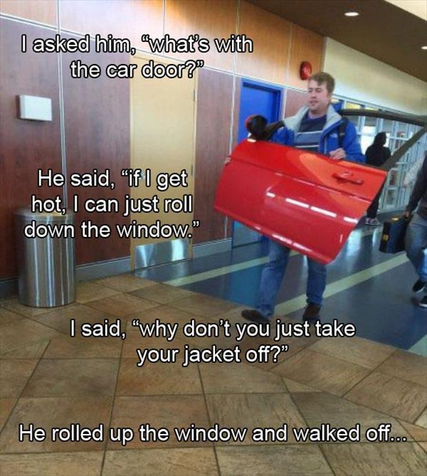 the car door