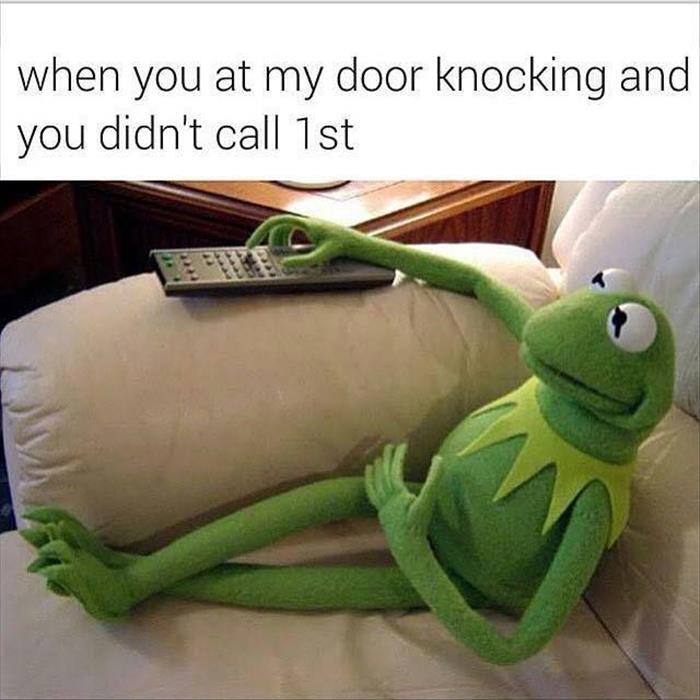 when you're knocking
