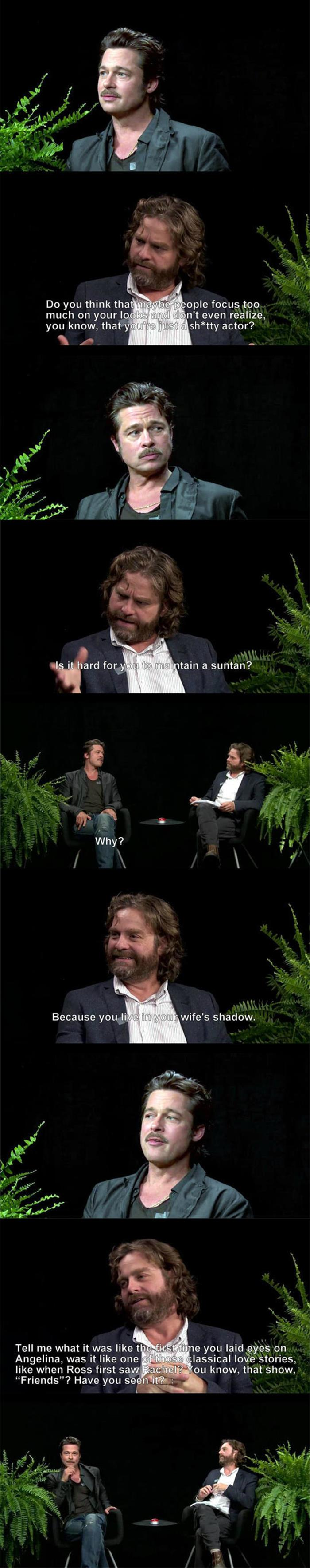 brad pitt on quotbetween two ferns with zach galifianakis