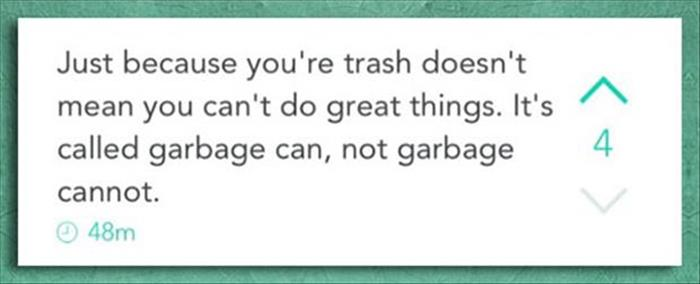 a funny garbage can