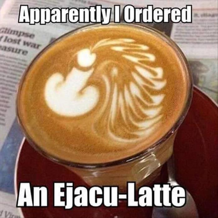 a funny latte