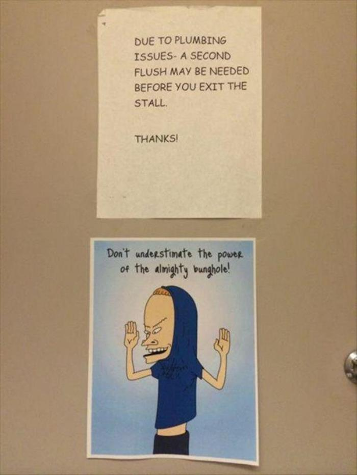 Bathroom Humor At It's Finest