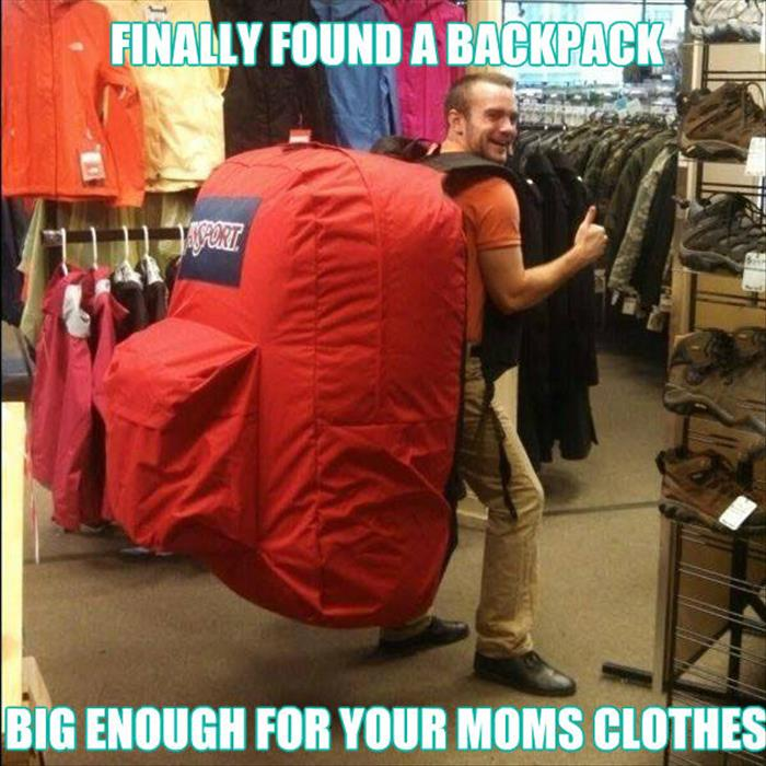 fat back pack for your mom