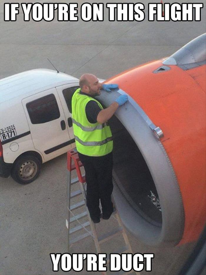 fix plane with duct tape